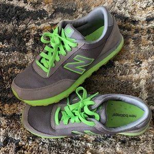 Gray and Green New Balance